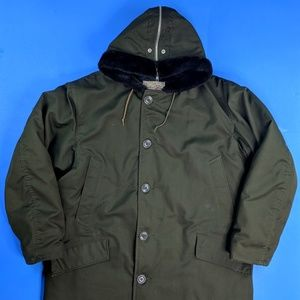 Vintage Olive Drab Parka XL Quilted USA Made